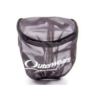 "Sprint Car & Open Wheel - Outerwears Performance Products - Outerwears Breather Pre-Filter w/ Top - Black - 3-1/2"" Diameter x 4"" Tall"