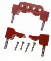 Taylor Cable Products - Taylor Spark Plug Wire Separator Bracket - Horizontal, Red (SB Chevy, Chrysler) - Image 3
