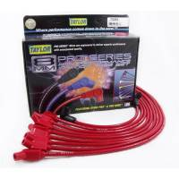 Taylor Spark Plug Wires - Taylor 8mm Spiro-Pro Wires - Taylor Cable Products - Taylor 8mm Spiro Pro Ignition Wire Set - Custom Fit(Red)