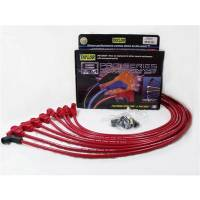 """Taylor Cable Products - Taylor 8mm Pro """"Race Fit"""" Wire Spark Plug Wire Set - Red - SB Chevy 262-400 - TCW Wire Conductor - 90° Plug Boots, HEI Style Distributor Cap - For Under Valve Cover Applications"""
