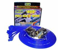 "Taylor Cable Products - Taylor ""409"" Pro Race Universal Spark Plug Wire Set - 10.4mm Diameter - Blue - 90 Plug Boots - Spiro-Wound Conductor - 8 Cylinder Applications - Image 2"