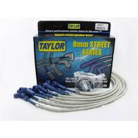 Spark Plug Wires - Taylor Street Series8mm SST Shielded Spark Plug Wire Sets - Taylor Cable Products - Taylor 8mm Street Ignition Wire Set - Custom Fit(Blue)