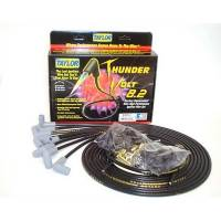 Taylor Cable Products - Taylor Universal-Fit Thundervolt 8.2mm Ignition Wire Set - 90 Plug Boots - Black