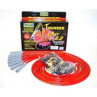 Taylor Cable Products - Taylor Universal-Fit Thundervolt 8.2mm Ignition Wire Set - 180° Plug Boots - Red