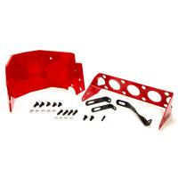 Transmission Accessories - Transmission Safety Shields - TCI Automotive - TCI Powerglide Transmission Safety Shield - Red Powder Coated
