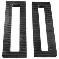 "Panhard Bar Mounting Brackets - Serrated Blocks & Plates - UB Machine - UB Machine Serrated Steel Plate - 2"" x 6"" w/ 3/4"" Slot"