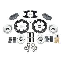 Front Brake Kits - Drag - Wilwood Forged Dynalite Front Drag Brake Kits - Wilwood Engineering - Wilwood Dynalite Front Drag Brake Kit - Black - Drilled Rotor - Mustang II/Pinto