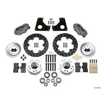 Front Brake Kits - Drag - Wilwood Forged Dynalite Front Drag Brake Kits - Wilwood Engineering - Wilwood Forged Dynalite Front Drag Brake Kit - Black Anodized Caliper - Drilled Rotor - 80-87 GM