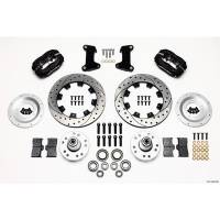 Front Brake Kits - Drag - Wilwood Forged Dynalite Big Brake Front Hub Kits - Wilwood Engineering - Wilwood Dynalite Big Brake Front Brake Kit (Hub) - Black - Drilled Rotors - 74-78 Pinto/Mustang