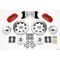 "Front Brake Kits - Street / Truck - Wilwood Dynapro 6 Big Brake Front Brake Kits (Hub) - Wilwood Engineering - Wilwood Dynapro 6 Big Brake Front Brake Kit (Hub) - Red - 12.19"" Drilled / Slotted Rotor - 1967-72 Camaro / Nova"