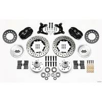 Front Brake Kits - Drag - Wilwood Forged Dynalite Pro Series Front Brake Kits - Wilwood Engineering - Wilwood Forged Dynalite Pro Series Front Brake Kit - Black Anodized Caliper - SRP Drilled & Slotted Rotor - 62-72 A Body Drum Spindle