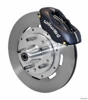 Wilwood Engineering - Wilwood Dynalite Big Brake Front Brake Kit (Hub) - Black - Plain Face Rotor - 65-69 Mustang - Image 3