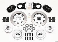 Wilwood Engineering - Wilwood Dynalite Big Brake Front Brake Kit (Hub) - Black - Plain Face Rotor - 65-69 Mustang - Image 4