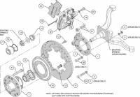 Wilwood Engineering - Wilwood Dynalite Big Brake Front Brake Kit (Hub) - Black - Plain Face Rotor - 65-69 Mustang - Image 5