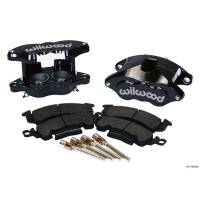Wilwood Brake Calipers - Wilwood D52 Brake Calipers - Wilwood Engineering - Wilwood D52 Front Caliper Kit - Black Powder Coat Caliper
