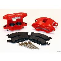 Wilwood Brake Calipers - Wilwood D52 Brake Calipers - Wilwood Engineering - Wilwood D52 Front Caliper Kit - Red Powder Coat Caliper
