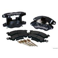 Wilwood Brake Calipers - Wilwood D52 Brake Calipers - Wilwood Engineering - Wilwood D52 Front Caliper Kits - Black Powder Coat Caliper