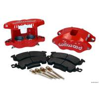 Wilwood Brake Calipers - Wilwood D52 Brake Calipers - Wilwood Engineering - Wilwood D52 Front Caliper Kits - Red Powdercoat