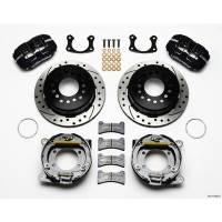 Rear Brake Kits - Street / Truck - Wilwood Dynapro Low-Profile Rear Parking Brake Kits - Wilwood Engineering - Wilwood Dynapro Low-Profile Rear Parking Brake Kit - Black Anodized Caliper - SRP Drilled & Slotted Rotor - Big Ford Drilled