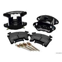 Brake Systems - Front Brake Kits - Circle Track - Wilwood Engineering - Wilwood D154 Front Caliper Kits - Black Powder Coat Caliper - Metric GM - Black Powdercoat