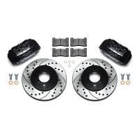 "Front Brake Kits - Street / Truck - Wilwood Forged DHPA DynaPro Honda/Acura Caliper and Rotor Kits - Wilwood Engineering - Wilwood Forged DHPA DynaPro Honda/Acura Caliper and Rotor Kit - Black - 10.32"" Drilled/Slotted Rotor"