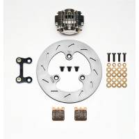 Brake Systems - Sprint Car Brake Kits - Wilwood Engineering - Wilwood Dynapro Single Left Front Brake Kit - Nickel Plate Caliper - Slotted Rotor