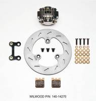 Wilwood Engineering - Wilwood Dynapro Single Left Front Brake Kit - Nickel Plate Caliper - Slotted Rotor - Image 3
