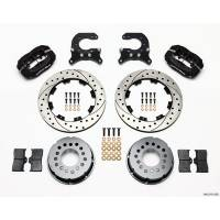 Rear Brake Kits - Drag - Wilwood Forged Dynalite Pro Series Rear Disc Brake Kits - Wilwood Engineering - Wilwood Dynalite Pro Series Rear Brake Kit - Black - SRP Drilled & Slotted Rotor - 12 Bolt Chevy