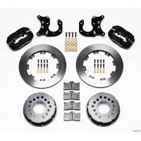 Rear Brake Kits - Drag - Wilwood Forged Dynalite Pro Series Rear Disc Brake Kits - Wilwood Engineering - Wilwood Dynalite Pro Series Rear Brake Kit - Black - Plain Face Rotor - Big Ford