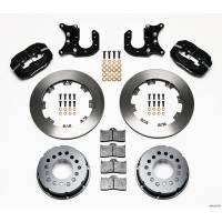 Rear Brake Kits - Drag - Wilwood Forged Dynalite Pro Series Rear Disc Brake Kits - Wilwood Engineering - Wilwood Dynalite Pro Series Rear Brake Kit - Black - Plain Face Rotor - Mopar/Dana