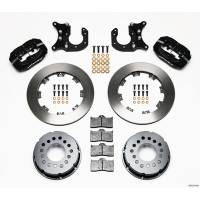 Rear Brake Kits - Drag - Wilwood Forged Dynalite Pro Series Rear Disc Brake Kits - Wilwood Engineering - Wilwood Dynalite Pro Series Rear Brake Kit - Black - Plain Face Rotor - Big Ford New Style
