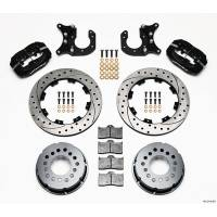 Rear Brake Kits - Drag - Wilwood Forged Dynalite Pro Series Rear Disc Brake Kits - Wilwood Engineering - Wilwood Dynalite Pro Series Rear Brake Kit - Black - SRP Drilled & Slotted Rotor - New Big Ford
