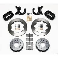 Rear Brake Kits - Drag - Wilwood Forged Dynalite Pro Series Rear Disc Brake Kits - Wilwood Engineering - Wilwood Dynalite Pro Series Rear Brake Kit - Black - Plain Face Rotor - 8.8 Ford