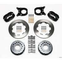 Rear Brake Kits - Drag - Wilwood Forged Dynalite Pro Series Rear Disc Brake Kits - Wilwood Engineering - Wilwood Dynalite Pro Series Rear Brake Kit - Black - Plain Face Rotor - Chevy 12 Bolt