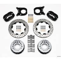 Rear Brake Kits - Drag - Wilwood Forged Dynalite Pro Series Rear Disc Brake Kits - Wilwood Engineering - Wilwood Dynalite Pro Series Rear Brake Kit - Black - SRP Drilled & Slotted Rotor - Chevy 12 Bolt