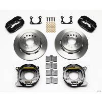 """Rear Brake Kits - Street / Truck - Wilwood Forged Dynalite Rear Parking Brake Kits - Wilwood Engineering - Wilwood Forged Dynalite Rear Parking Brake Kit - Black Anodized Caliper - Plain Face Rotor - Big Ford 2.36"""" Offset One Piece Vented"""