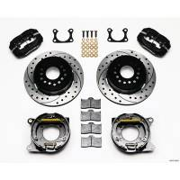 """Rear Brake Kits - Street / Truck - Wilwood Forged Dynalite Rear Parking Brake Kits - Wilwood Engineering - Wilwood Forged Dynalite Rear Parking Brake Kit - Black Anodized Caliper - SRP Drilled & Slotted Rotor - Big Ford 2.36"""" Offset One Piece Vented"""
