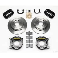 """Rear Brake Kits - Street / Truck - Wilwood Forged Dynalite Rear Parking Brake Kits - Wilwood Engineering - Wilwood Forged Dynalite Rear Parking Brake Kit - Black Anodized Caliper - Plain Face Rotor - Big Ford New Style 2.50"""" Offset One Piece Vented"""