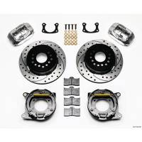 """Rear Brake Kits - Street / Truck - Wilwood Forged Dynalite Rear Parking Brake Kits - Wilwood Engineering - Wilwood Forged Dynalite Rear Parking Brake Kit - Polished Caliper - SRP Drilled & Slotted Rotor - Big Ford New Style 2.50"""" Offset Drilled/Polished"""
