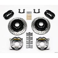 """Rear Brake Kits - Street / Truck - Wilwood Forged Dynalite Rear Parking Brake Kits - Wilwood Engineering - Wilwood Dynalite Rear Parking Brake Kit - Black - SRP Drilled & Slotted Rotor - Small Ford 2.66"""""""
