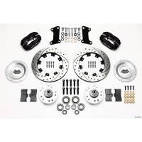 Wilwood Engineering - Wilwood Dynalite Big Brake Front Brake Kit (Hub) - Black - SRP Rotor - 67-72 Camaro Nova - Image 1