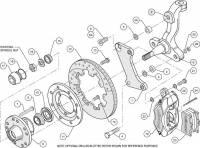 Wilwood Engineering - Wilwood Dynalite Big Brake Front Brake Kit (Hub) - Black - SRP Rotor - 67-72 Camaro Nova - Image 5