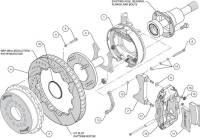 "Wilwood Engineering - Wilwood Forged Narrow Superlite 4R Big Brake Rear Parking Brake Kit -Black - 12.88"" Rotor - Big Ford (New Style) - Image 5"