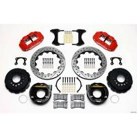 "Rear Brake Kits - Street / Truck - Wilwood Forged Narrow Superlite 4R Big Brake Rear Parking Brake Kits - Wilwood Engineering - Wilwood Forged Narrow Superlite 4R Big Brake Rear Parking Brake Kit -Red - 12.88"" Rotor - Big Ford (New Style)"