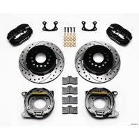 """Rear Brake Kits - Street / Truck - Wilwood Forged Dynalite Rear Parking Brake Kits - Wilwood Engineering - Wilwood Dynalite Rear Parking Brake Kit - Black - SRP Drilled & Slotted Rotor - Small Ford 2.50"""""""