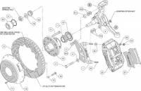 Wilwood Engineering - Wilwood Forged Narrow Superlite 6R Big Brake Front Brake Kit (Hub) - Black Powder Coat Caliper - SRP Drilled & Slotted Rotor - Camaro Nova - Chevelle - Image 5