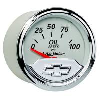 Analog Gauges - Oil Pressure Gauges - Auto Meter - Auto Meter 2-1/16 Gauge Oil Pressure 100 psi Chevrolet