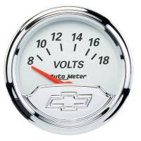 Analog Gauges - Voltmeters - Auto Meter - Auto Meter 2-1/16 Voltmeter Gauge Chevy Bowtie Series