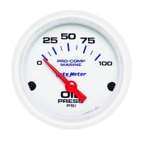 Analog Gauges - Oil Pressure Gauges - Auto Meter - Auto Meter 2-1/16 Oil Pressure Gauge 0-100 psi