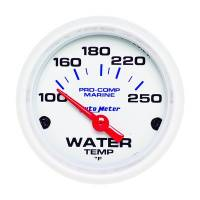 Analog Gauges - Water Temperature Gauges - Auto Meter - Auto Meter 2-1/16 Water Temp Gauge 100-250F White Phantom